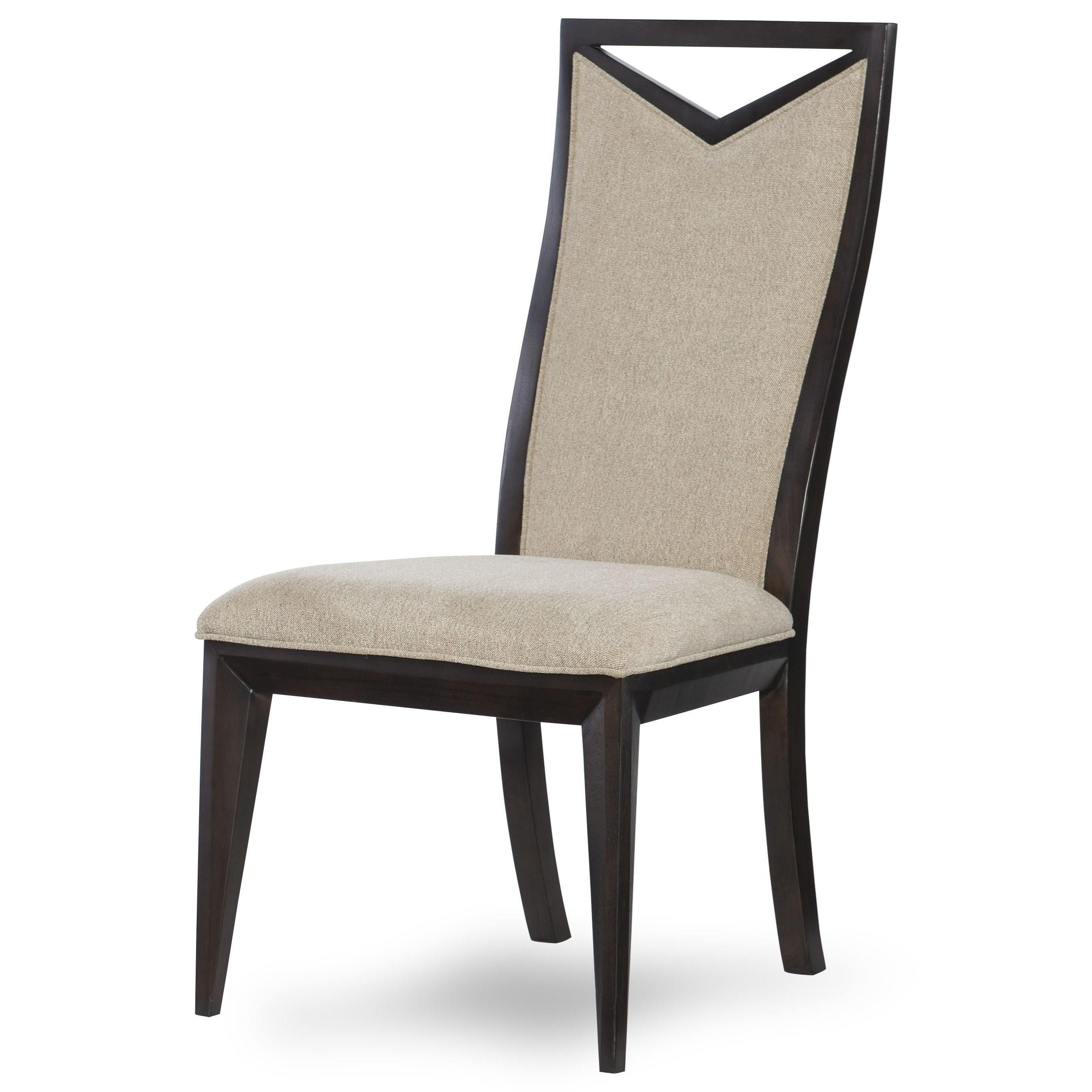 Legacy Classic Urban Rhythm Wood Back Side Chair With Cutout