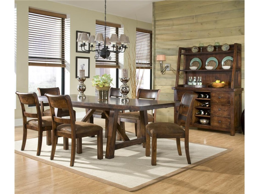 Shown with Trestle Dining Table and Ladder Back Chairs