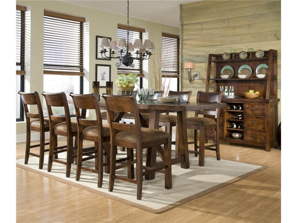 Shown with Trestle Pub Table and Ladder Back Pub Chairs