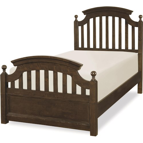 Legacy Classic Kids Academy Twin Panel Bed with Slat Detail