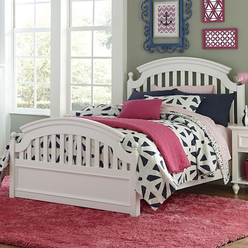 Legacy Classic Kids Academy Full Panel Bed with Slat Detail