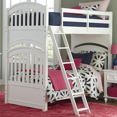 Legacy Classic Kids Academy Full over Full Bunk Bed with Arched Ends