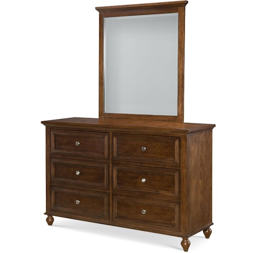 Legacy Classic Kids Academy 6-Drawer Dresser and Mirror Set