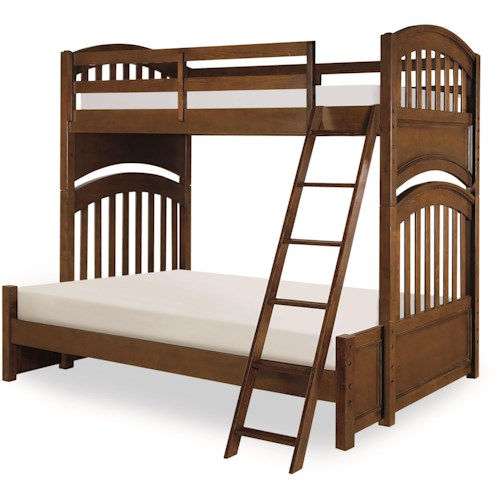 Legacy Classic Kids Academy Twin over Full Bunk Bed with Arched Ends