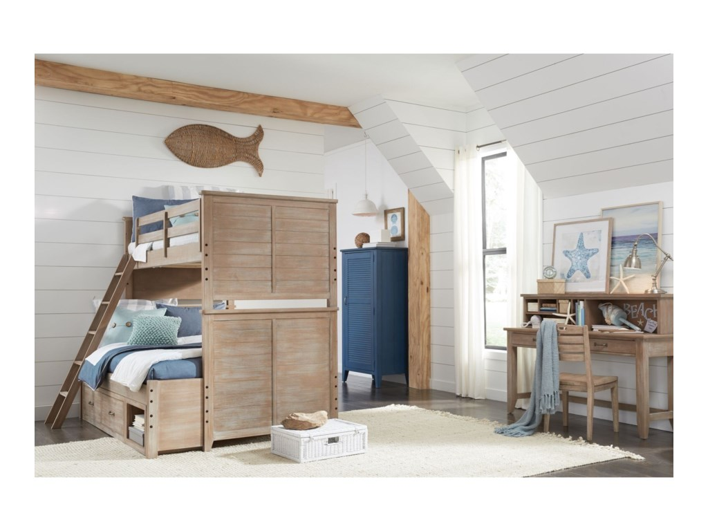 Legacy Classic Kids Beach HouseTwin-over-Full Bunk Bedroom Group