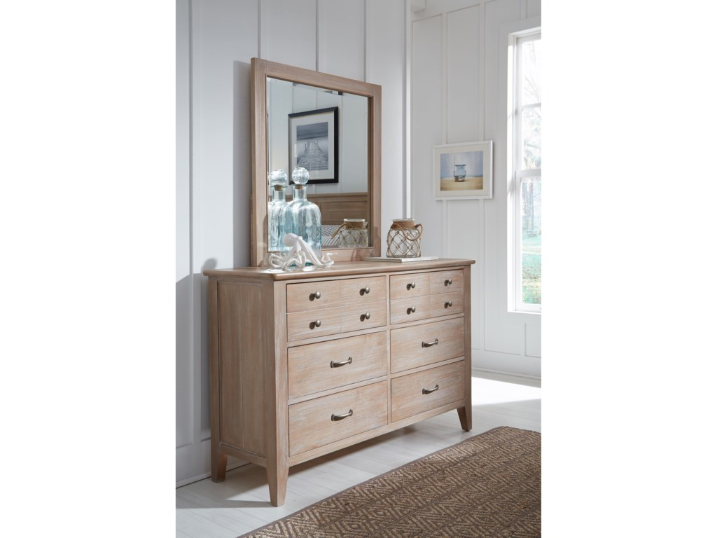 Legacy Classic Kids Beach HouseDresser and Mirror Set