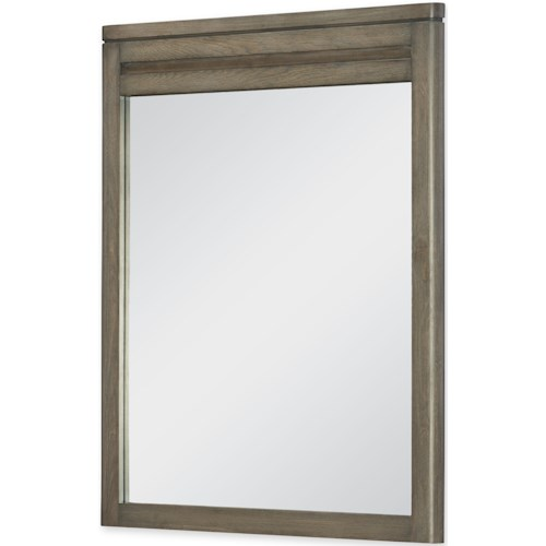Legacy Classic Kids Big Sky by Wendy Bellissimo Vertical Mirror with Weathered Oak Finished Frame