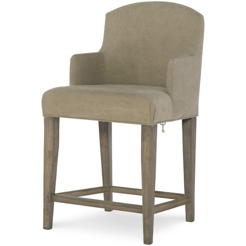 Legacy Classic Kids Big Sky by Wendy Bellissimo Counter Height Slip Cover Arm Chair with Laced Back
