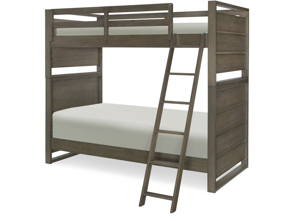 Big Sky By Wendy Bellissimo Twin Over Bunk Bed With Ladder And Guard Rails Legacy Classic Kids