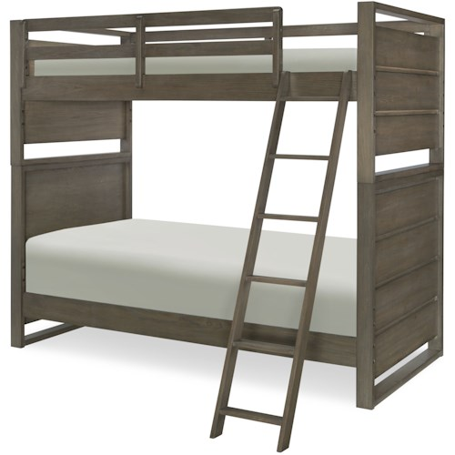 Legacy Classic Kids Big Sky by Wendy Bellissimo Twin Over Twin Bunk Bed with Ladder and Guard Rails