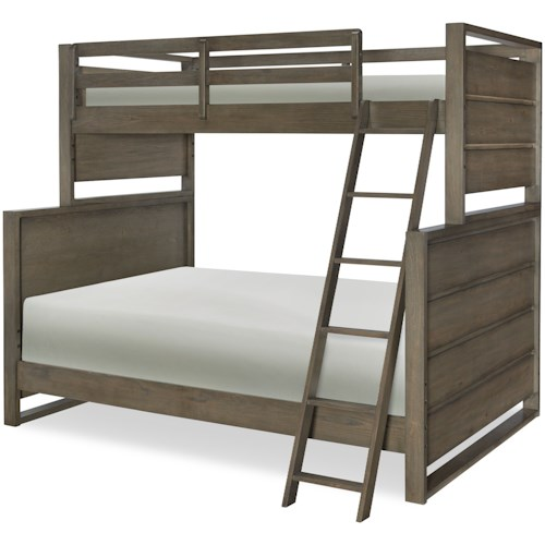 Legacy Classic Kids Big Sky by Wendy Bellissimo Twin Over Full Bunk Bed with Ladder and Guard Rails