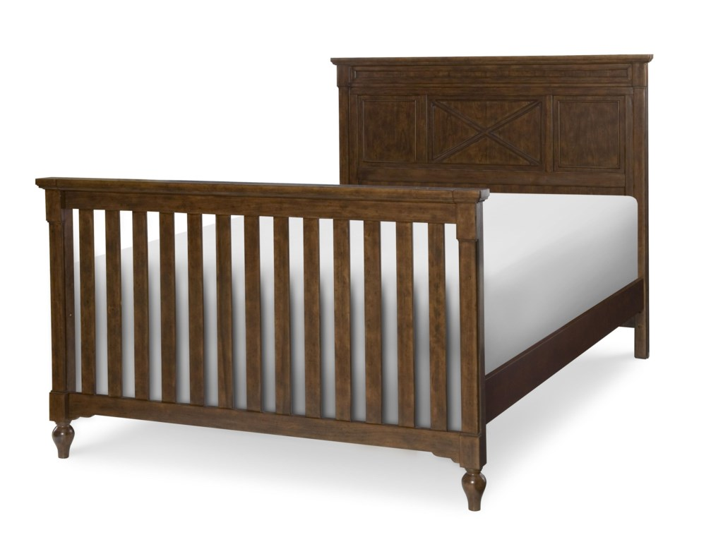 Pair Crib Headboard and Footboard with Full Sized Bed Rails (Sold Separately) to Create a Full Sized Bed