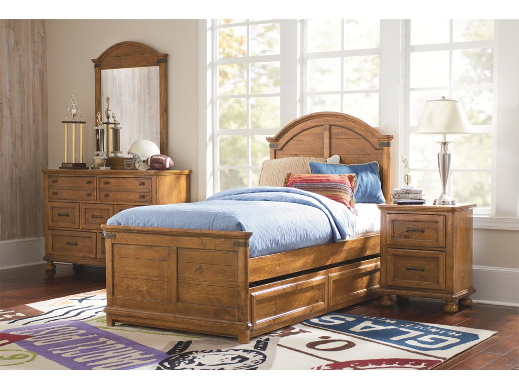 legacy bedroom furniture.  Shown with Trundle Unit Legacy Classic Kids Bryce Canyon Twin Arched Panel Bed Virginia