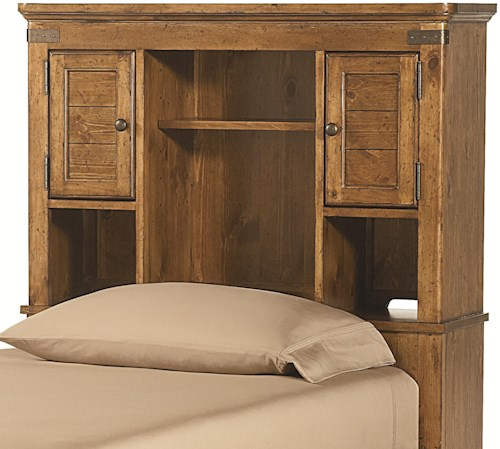 Legacy Classic Kids Bryce Canyon Twin Bookcase Headboard with Shelves and Doors