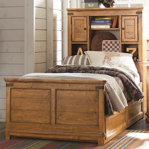 Legacy Classic Kids Bryce Canyon Twin Bookcase Bed with Underbed Trundle or Storage Drawer Unit
