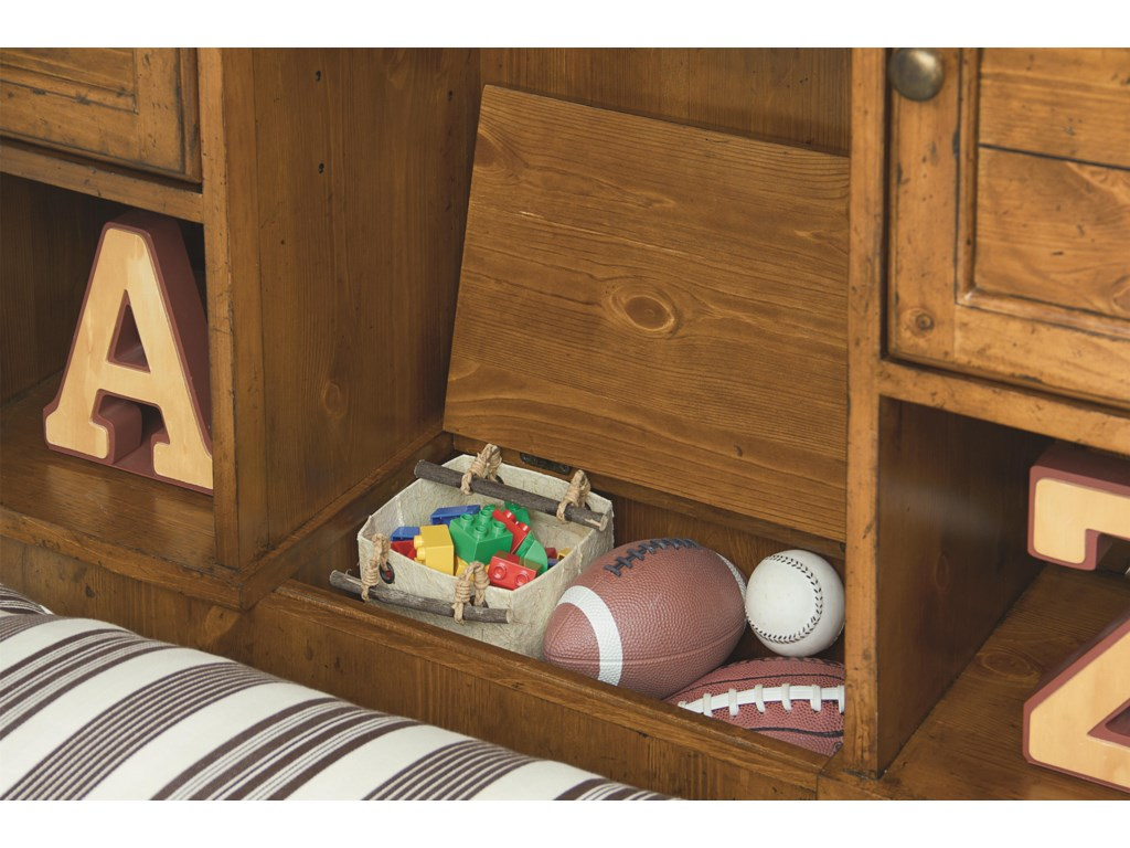 Hidden Flip Top Compartment with Outlet