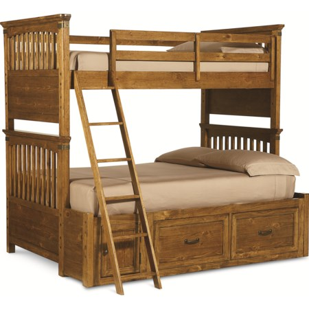 Twin Over Full Bunk Bed -Trundle Unit $299