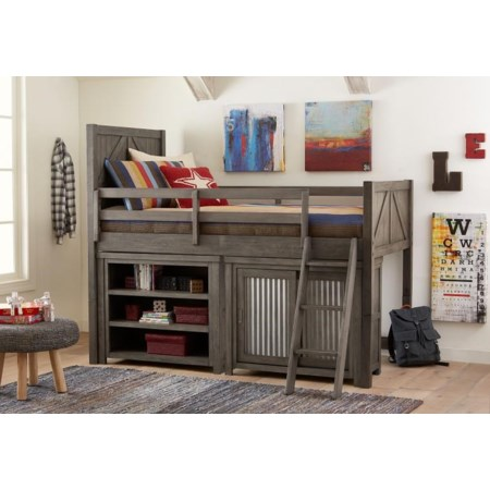 Bungalow Loft Bed Set with Storage