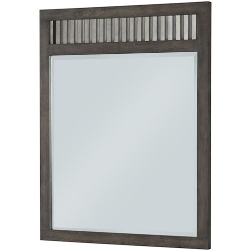 Legacy Classic Kids Bunkhouse Rustic Casual Vertical Mirror with Beveled Glass