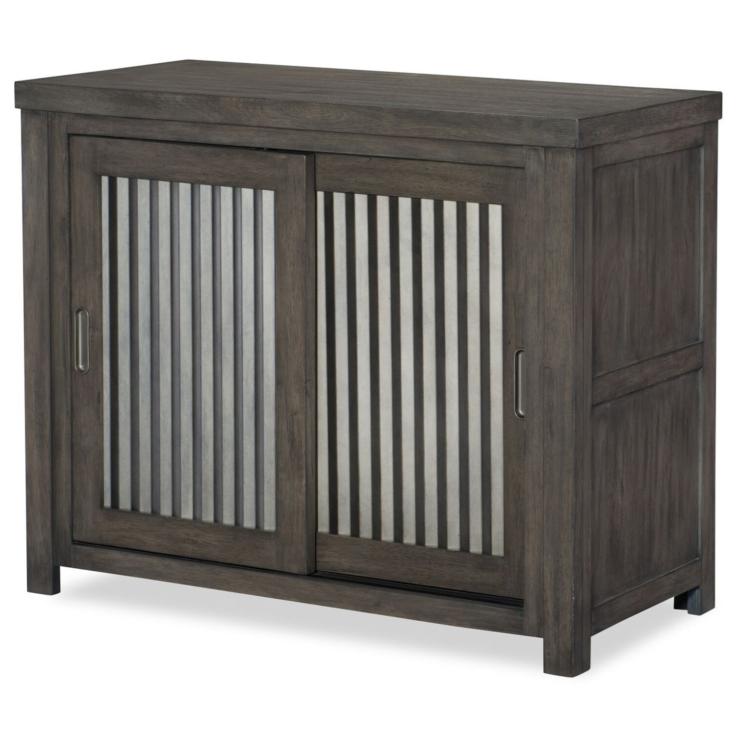 Attrayant Legacy Classic Kids Bunkhouse Rustic Casual Sliding Door Chest With  Corrugated Metal Doors
