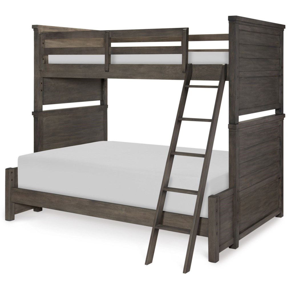 Legacy Classic Kids Bunkhouse Rustic Casual Twin Over Full Bunk Bed
