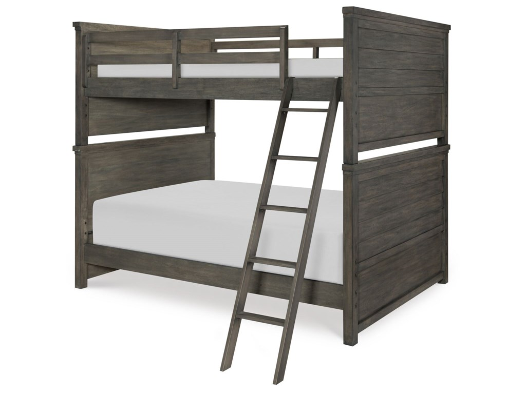 Legacy Classic Kids Bunkhouse Rustic Casual Full Over Full Bunk Bed