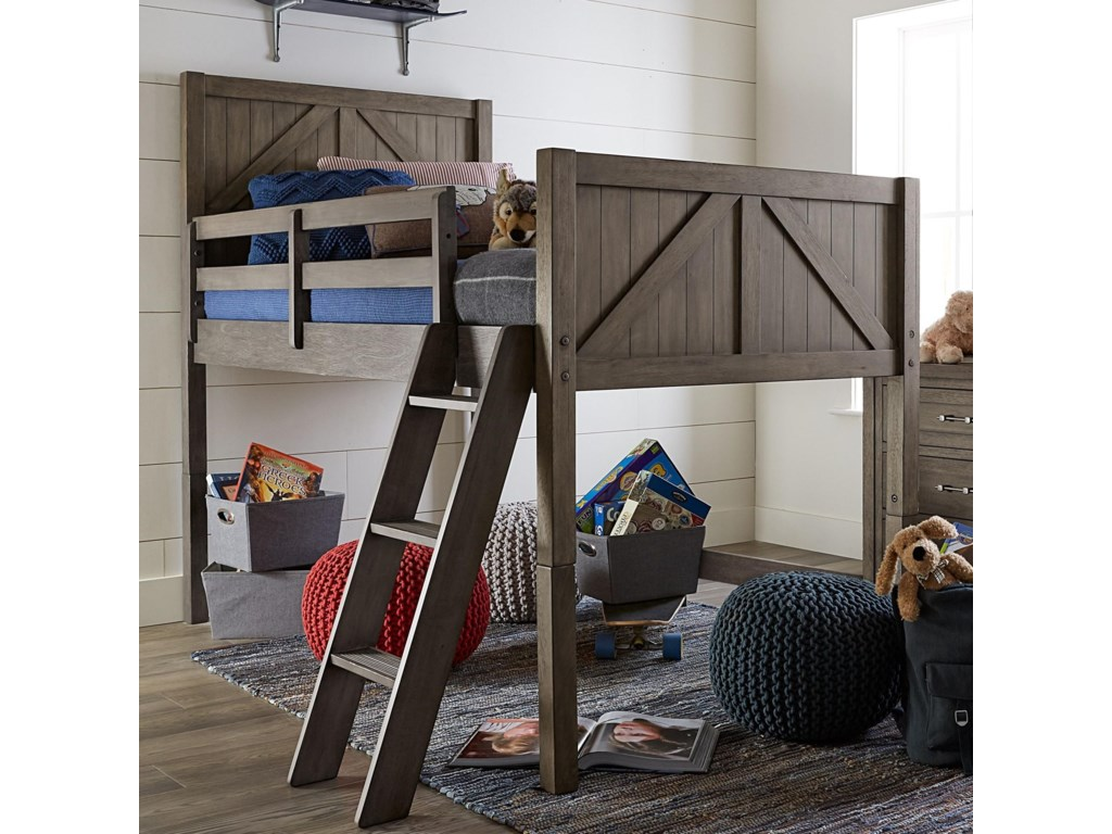 Legacy Classic Kids BunkhouseTwin Mid Loft Bed