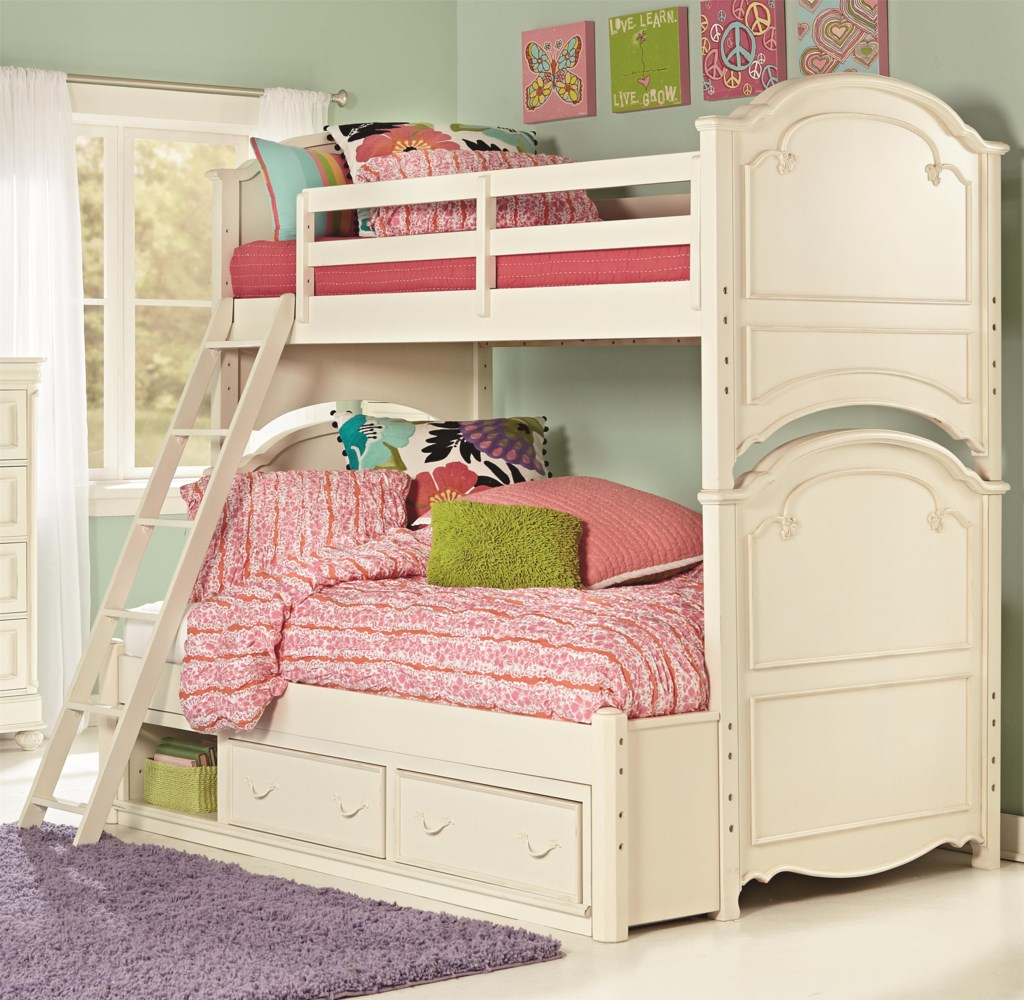 Legacy Classic Kids Charlotte Twin Over Full Bunk Bed With Underbed