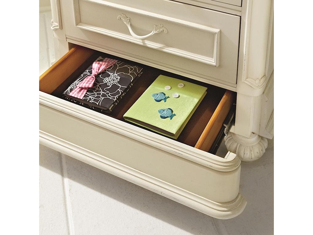 Hidden Felt-lined Storage Drawer