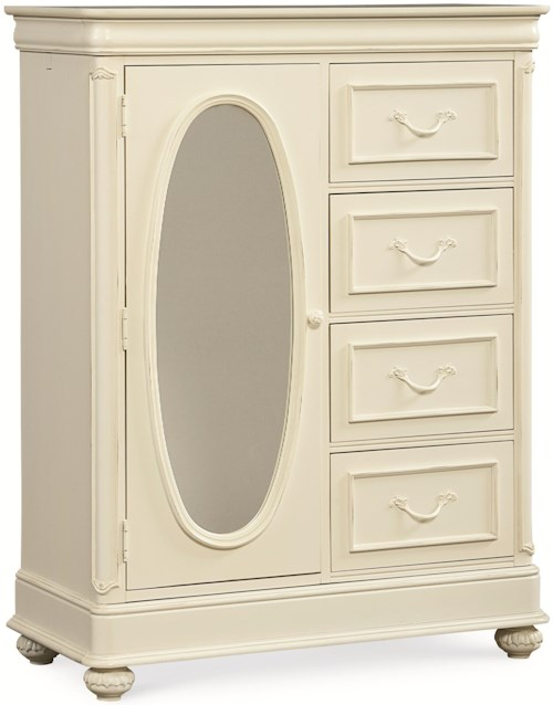 Legacy Classic Kids Charlotte Door Chest with Five Drawers and Mirrored Door
