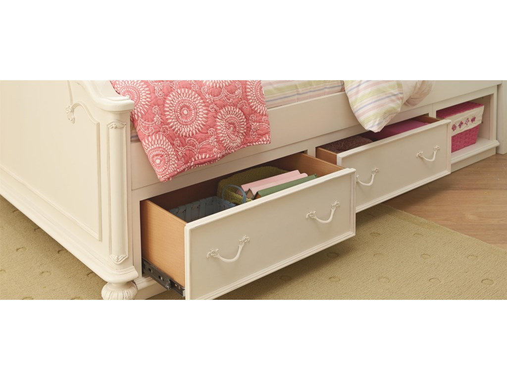 Legacy Classic Kids CharlotteFull Arched Panel Bed with Storage Unit