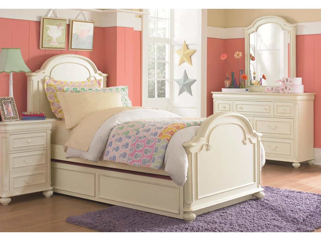 Legacy Classic Kids CharlotteTwin Arched Panel Bed w Trundle