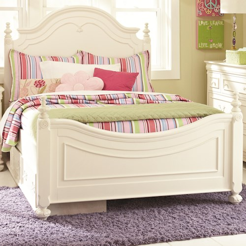 Legacy Classic Kids Charlotte Full Low Poster Bed with Underbed Storage Drawer