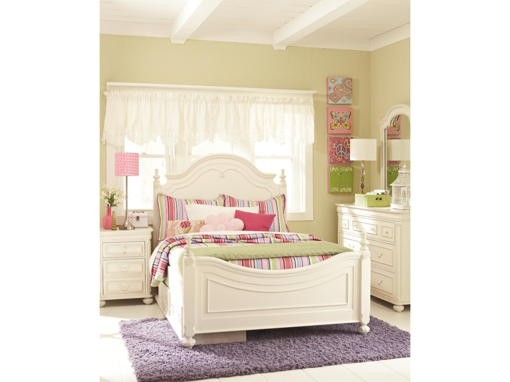 Legacy Classic Kids CharlotteFull Low Poster Bed with Storage Unit