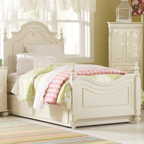 Legacy Classic Kids Charlotte Twin Low Poster Bed with Trundle Unit