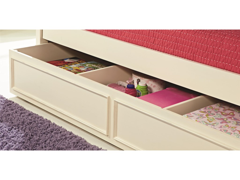 Legacy Classic Kids CharlotteFull Low Poster Bed with Trundle Unit