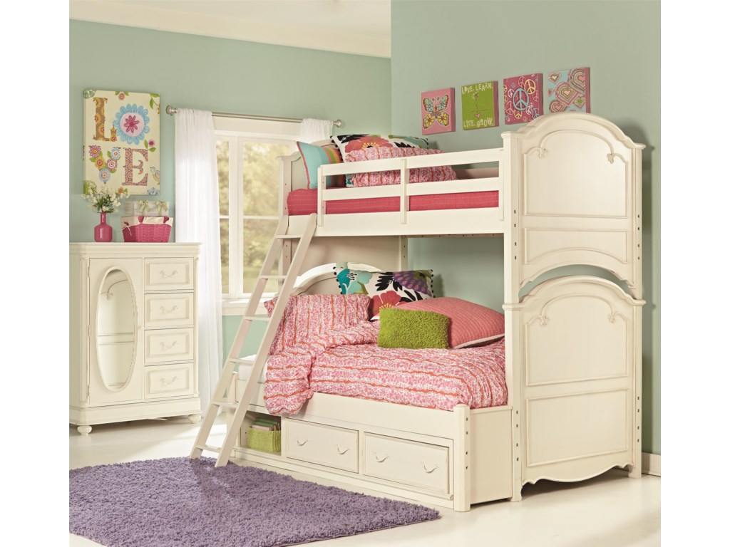 Legacy Classic Kids CharlotteTwin Over Full Bunk Bed