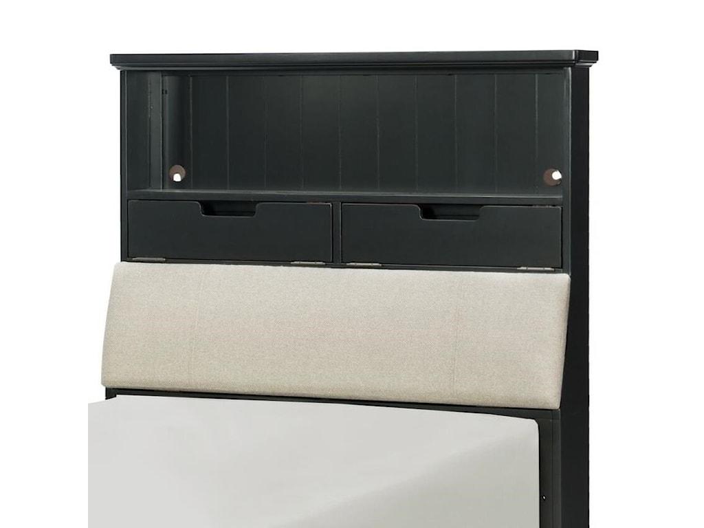 Legacy Classic Kids CrossroadsTwin Upholstered Bookcase Headboard