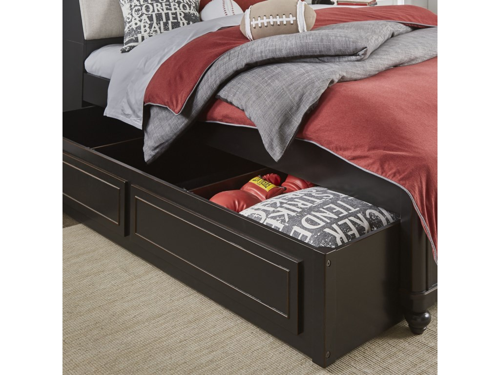 Legacy Classic Kids CrossroadsTwin Upholstered Bookcase Bed