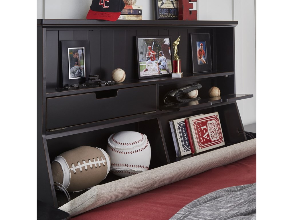 Legacy Classic Kids CrossroadsFull Upholstered Bookcase Bed