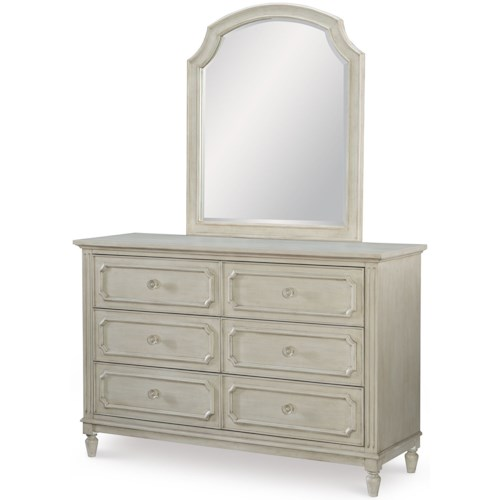 Legacy Classic Kids Emma Transitional Dresser and Mirror Set