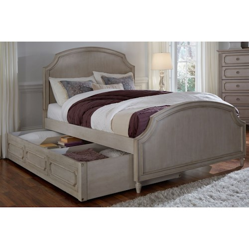 Legacy Classic Kids Emma Twin Panel Bed with Storage Trundle
