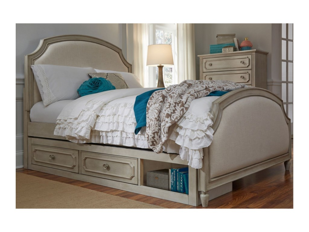 Legacy Classic Kids EmmaFull Upholstered Panel Bed with Storage