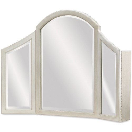 Legacy Classic Kids Emma Vanity Mirror with 2 Doors and 3-Way Touch Lighting