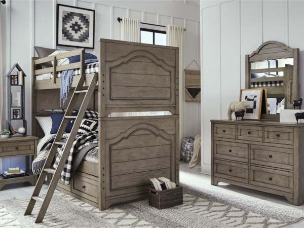 Twin over Twin Bunk Bedroom Group