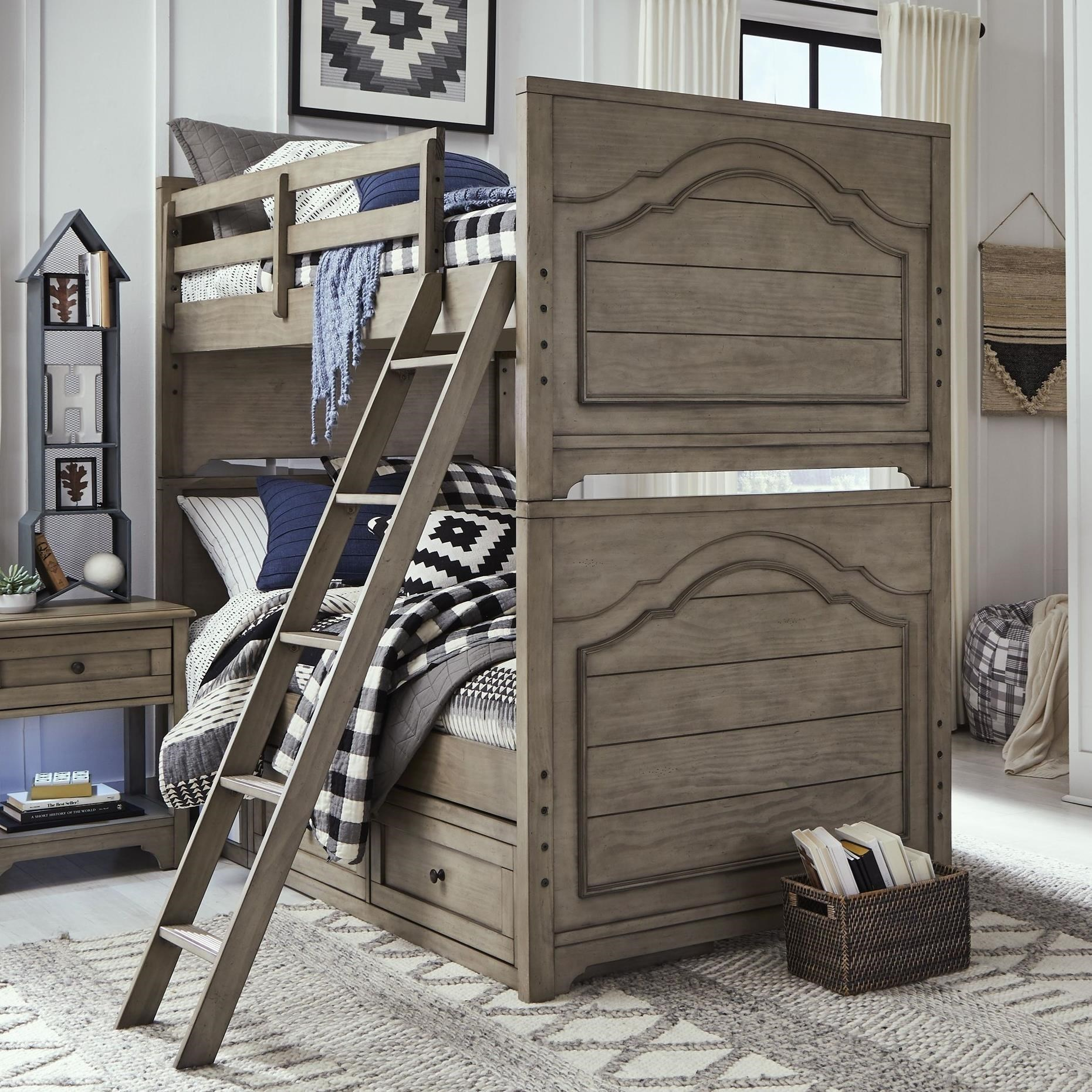 Picture of: Legacy Classic Kids Farm House Modern Farmhouse Twin Over Twin Bunk Bed Howell Furniture Bunk Beds