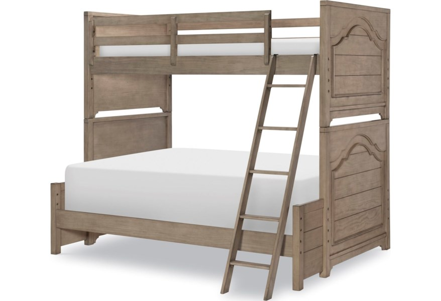 Legacy Classic Kids Farm House 9950 8140k Modern Farmhouse Twin Over Full Bunk Bed Pilgrim Furniture City Bunk Beds
