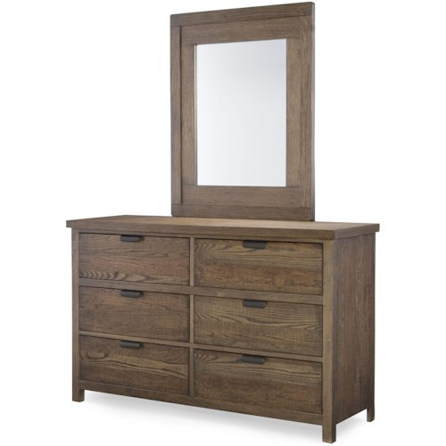 Legacy Classic Kids Fulton County 6-Drawer Dresser with Mirror