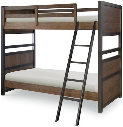 Legacy Classic Kids Fulton County Twin Over Twin Bunk Bed with Ladder