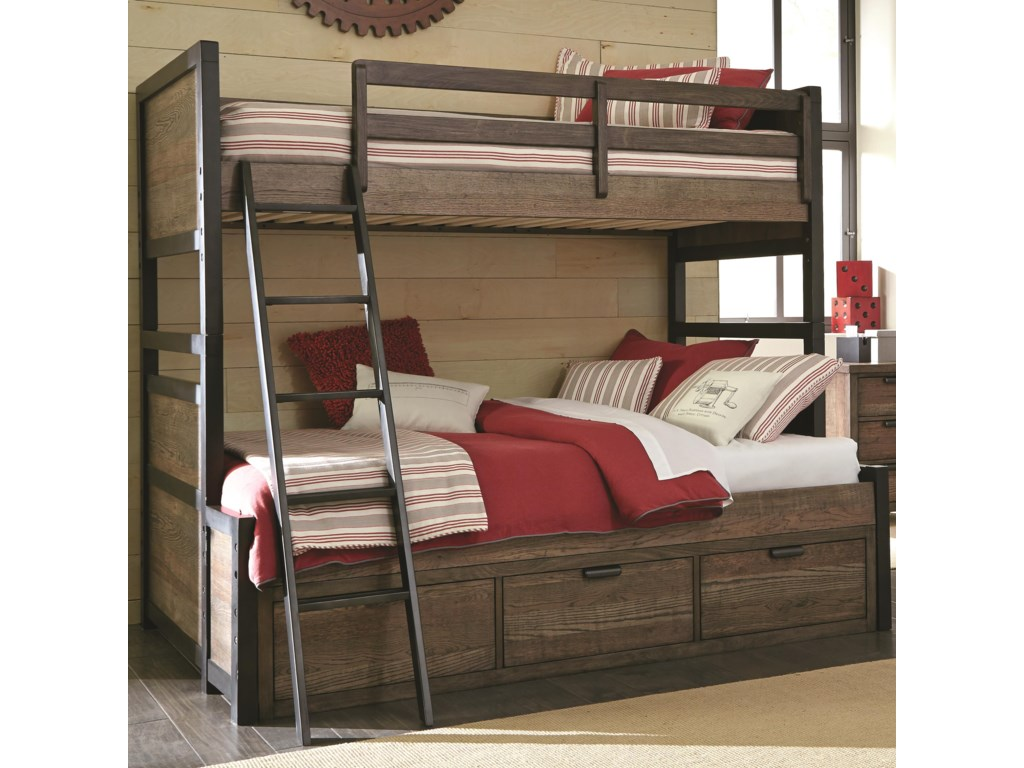 Fulton County Twin Over Full Bunk Bed With 3 Storage Drawers By Legacy Classic Kids At Dunk Bright Furniture